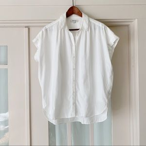 Madewell Oversized Short Sleeve White Button Down